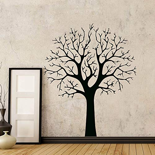 BFMBCH Adesivo da parete moderno Albero Soggiorno Camera da letto Decorazione della casa Vinile Staccabile Adesivo Carta da parati Adesivo da parete GIALLO XL 58 cm X 70 cm