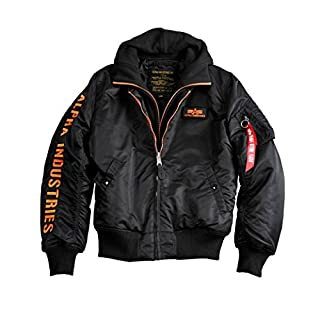 Alpha Industries Men Jackets/Bomber Jacket MA-1 D-Tec SE Black L
