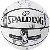 Spalding NBA Marble BW Outdoor Ball Basketball, schwarz/Weiß, 7