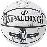 Spalding NBA Marble BW Outdoor Ball Basketball, schwarz/Weiß, 7