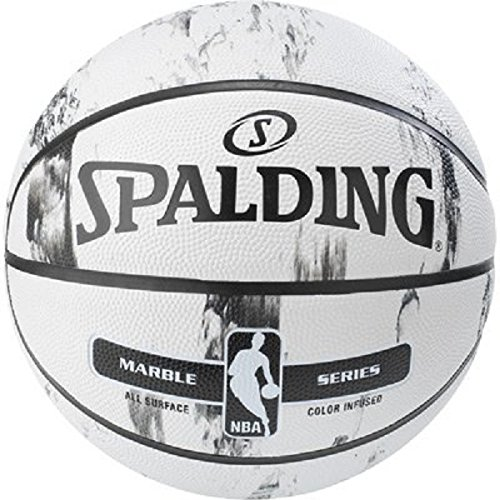 Spalding NBA Marble BW Outdoor Ball Basketball, schwarz/Weiß, 7 (Weiß Basketbälle)