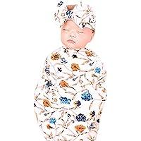 2pcs ReciéN Nacido Bebé Swaddle Manta Sleeping Wrap + Conjunto de Diadema, Amphia Manta Para BebéS Saco de Dormir.