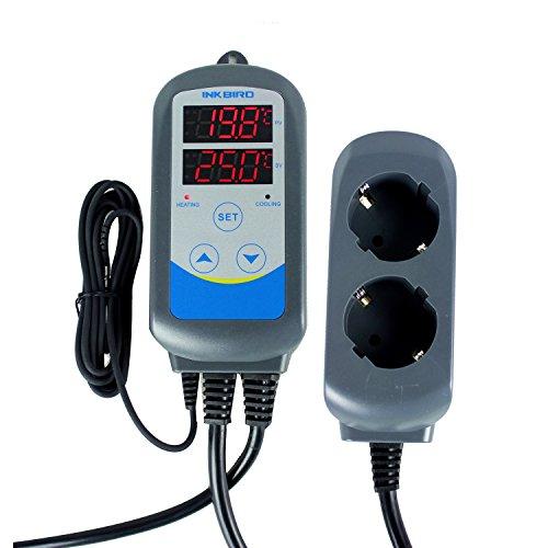 Inkbird ITC-310T-B Programmierbare Temperaturregler Schaltsteckdose & Timer Stecker 230V Temperaturkontrolle Thermostat für Gärung,Maischen,Bierbrauen