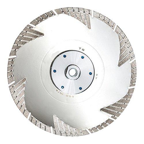 Diamant Trennscheibe Euro-TS Beton auch armiert Granit Klinker 230 mm Flansch M14 Turbo Sichelsegmente Premium, bündig schneiden