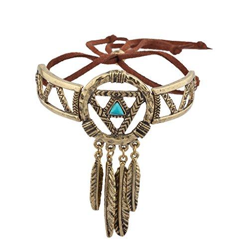 Lux accessori oro Burnish Acchiappasogni Navajo braccialetto