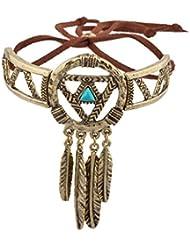 LUX accesorios Burnish Oro Dream Catcher Navajo pulsera