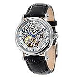 Tempo libero meccanico automatico orologio da polso impermeabile in vera pelle con Roma Digital Business per varie occasioni M182sk.B