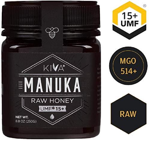 Kiva Roher Manuka-Honig, zertifiziert als UMF 15+ (MGO 510+) - Neuseeland (250g)
