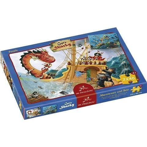 Coppenrath 21386 - Puzzle Kapt`n Sharky Abenteuer auf See, 2 x 40 teilig