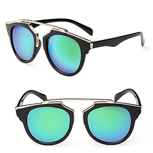 Vococla - 1 pz Occhiali da Sole Gamba di Plastica y Telaio in Metallo Colore Pellicola UV400 per Signore Donne Ragazze Viaggiano all'aperto lG7nXMYRGA