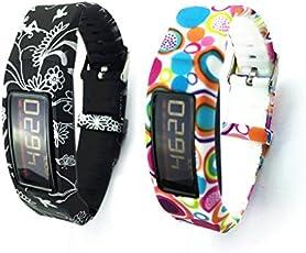 2 stücke VAN+ Armband for Garmin Vivofit 2 Armband Fitnessband mit Chrom Uhrschnalle for alle
