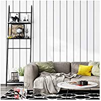 YJZ Moderne Einfache Art-Schwarz-Weiß-Tapete Nicht Gesponnener Streifen-Ausgangsdekor-Tapete Für Wohnzimmer, Schlafzimmer Und Fernsehhintergrund,15PCS
