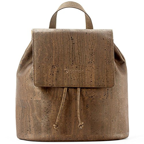 Corkor Veganer Rucksack aus Kork Umweltfreundliches Wasser-resistentes Material Gepolstertes Innenfach Braun
