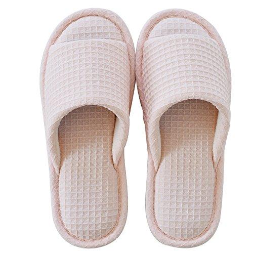 Pantofole estive Trasporto di trascinamento i pantofole antisdrucciolevoli del cotone Pantofole fredde delle coppie delle signore delle signore (3 colori opzionali) (formato facoltativo) ( Colore : C  C