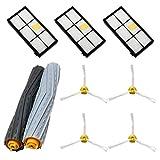 MIRTUX Kit de repuestos Compatible con Roomba Serie 800 y 900. Pack de cepillos, extractores y Accesorios Recambio aspiradora 810, 816, 865, 866, 870, 876, 880, 886, 890, 895, 896, 960, 966, 980