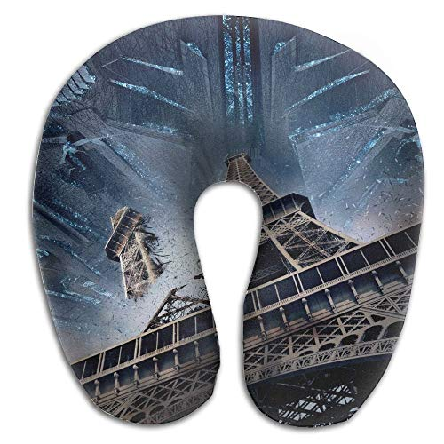 Bikofhd Neck Pillow Fantasy Eiffel Tower Travel U-Shaped Pillow Soft Memory Neck Support for Train Airplane Sleeping New11 (Cat Zubehör Tower)