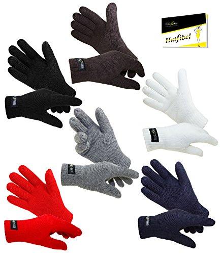 EveryHead Damenenhandschuhe Thinsulate Fingerhandschuhe Strickhandschuhe Winterhandschuhe isoliert Fleecefutter für Frauen (EH-57757-W17-DA1) inkl. EveryHead-Hutfibel
