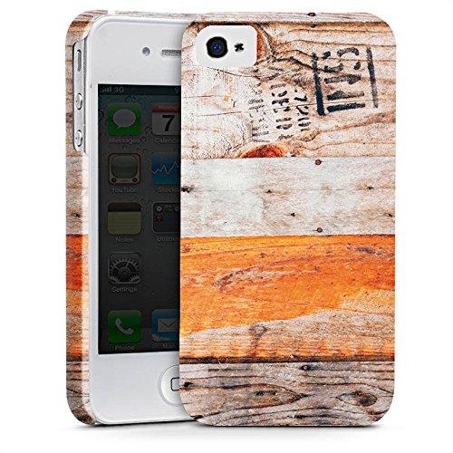 Apple iPhone X Silikon Hülle Case Schutzhülle Holz Look Planken Muster Premium Case glänzend