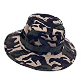 #3: Imported Mens Camo Military Boonie Cap Sun Bucket Brim Army Fishing Hiking Hat #1
