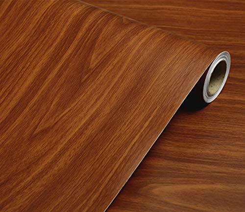(WDragon Selbstklebend PVC Kontakt Papier Dunkelbraun Holz Getreide Zähler Papier Möbel Schränke Kleiderschrank Regal Liner Tapeten, 40cm x 250cm)