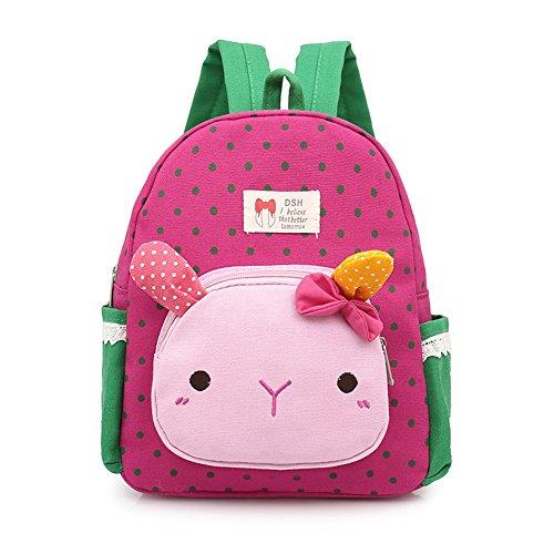 Imagen de dafenq  infantil niña guarderia  de jardín de infantes gato animales preescolar niños saco viajar lindo niña bambino rosa roja