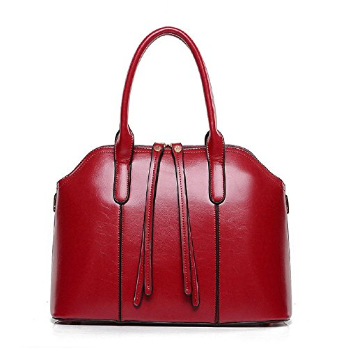 CELO stile europeo e americano, la signora borsa cera di petrolio tracolla denim moda retrò immagine diagonale , brown leather wine red