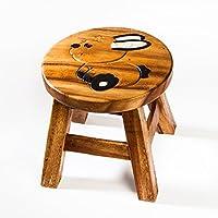 Robuster Kinderhocker/Kinderstuhl massiv aus Holz mit Tiermotiv Hase Kaninchen, 25 cm Sitzhöhe preisvergleich bei kinderzimmerdekopreise.eu