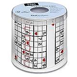 Paper + Design 00165Toilettenpapier (200Blatt, schwarz, rot, weiß)
