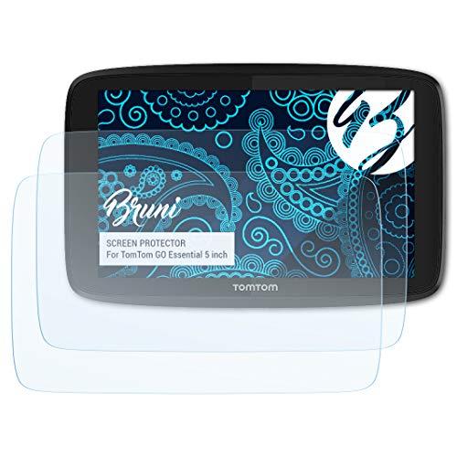 Bruni Schutzfolie für Tomtom GO Essential 5 inch Folie, glasklare Displayschutzfolie (2X)