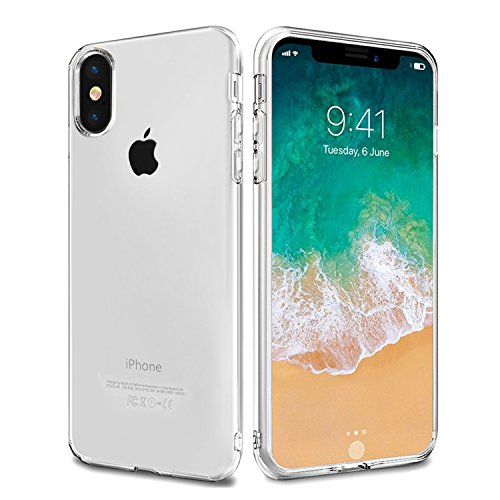 iPhone X Hülle, Mture iPhone X Schutzhülle Crystal Clear Bumper Case Ultra Dünn Backcover Tasche Kratzfeste Handyhülle TPU Case Schutzhülle für iPhone X Case Cover (Transparent) Transparent