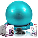 """Great exercise ball!"" ""Love my ball!"" ""The ball is amazing, my wife loves it"" ""Fab ball, love the stability ring makes it feel much safer than other balls!"" ""My husband has hip problems and it's really helping with his posture and mobility"" A versat..."