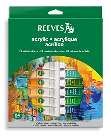 Reeves Acrylic Colour Tube Set, 10 ml - 24