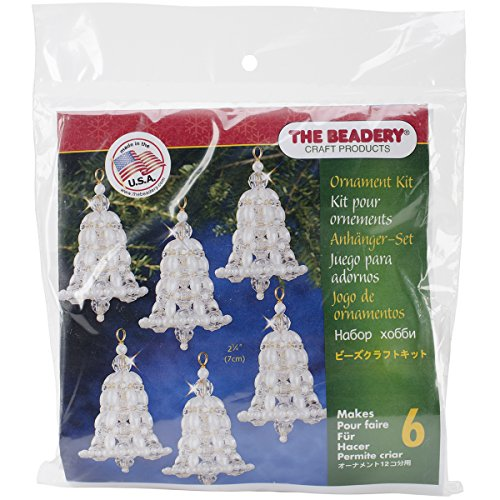 oliday Perlen Ornament Kit Kristall und Perle Glocken 2,75 Zoll macht 6 (Beaded Christmas Ornament-kits)