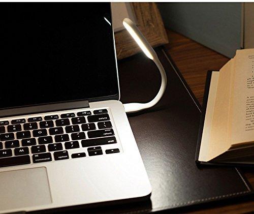 Flexibles USB-LED-Licht, Minkoll-Computer-Tastatur-Studie Lesen Notebook Laptop PC Lampe von Minkoll (wei?) (Flexible Computer-tastatur)