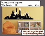 Wandtattoo Skyline Wiesbaden - Größe: M - 100cm x 40m - 23 mögliche Farben