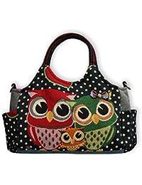 230a8fd3d8eab Eule Eulen Tasche Handtasche Henkeltasche    EULENFAMILIE    Shoppertasche  Schultertasche Eulenmotiv Umhängetasche…