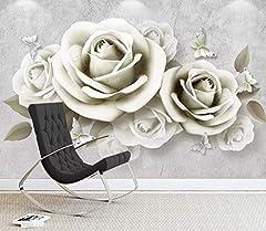 Idea Regalo - Fotomurali 3D Non Tessuto fiori Carta da Parati Poster Gigante moderno Quadro Murale Decorazione per Bambini Soggiorno Camera da Letto 350CMx245CM