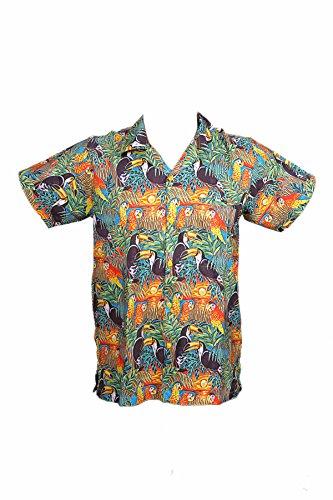 Camisa-hawaiana-para-hombre-estampado-digital-para-la-playa-fiestas-verano-y-vacaciones-2XL-Jungle