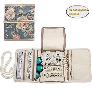 Teamoy Schmuckrollen, Schmucktasche für Ringe Ohrringe Halskette,schmuck, ketten, armreifen, halsketten und mehr schmuck und viele verschiedene Abteilung