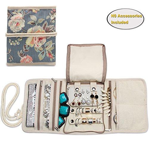 Bracelets Teamoy Trousse /à Bijoux de Voyage Noir /Étui /à Bijoux de Voyage pour bagues Montres Colliers et Boucles d/'Oreilles Matelass/é