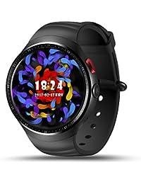 "LEMFO Android 5.1 OS 3G Tarjeta Inteligente Reloj Teléfono 16G ROM RAM de 1G Nano SIM 1.3"" AMOLED de 1,3 GHz Pantalla Quad Core CPU GSM WCDMA Wifi GPS Podómetro del Ritmo SmartWatch Android y Iphone"