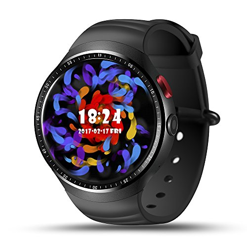 Smart Watch PhoneLEMFO Android 51 OS 3G 13 AMOLED Screen Quad Core CPU GSM WCDMA Wifi BT40 GPS Pedometer Heart Rate Smartwatch For Android 44 IPhone IOS 90