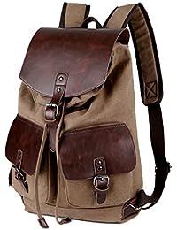 Sac à dos de sac d'école en cuir d'unité centrale de cheval fou, cartable de sac à dos de randonnée de Daypacks, grande capacité pour des adultes