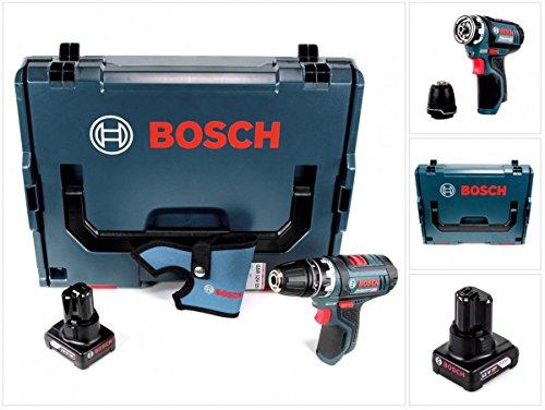 Preisvergleich Produktbild Bosch GSR 12V-15 FC Professional FlexiClick Akku Bohrschrauber mit 4 Ah Akku in L-Boxx