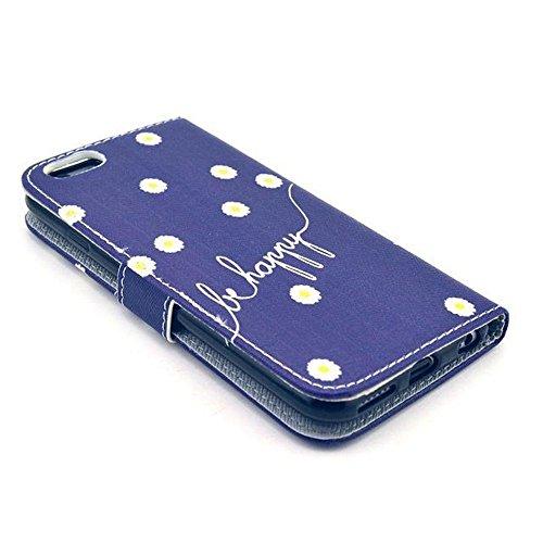 Aeontop 4 en 1 Custodia in pelle Protettiva Cuoio Portafoglio Flip Cover per Apple iPhone 6 4.7 con chiusura magnetica e funzione di supporto , Pellicola di Protezione e dello stilo Incluse , Modello modello 14