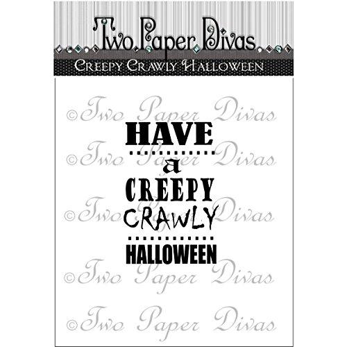 Zwei Papier Divas Gummi CLEAR STAMPS 6x 11,4, Creepy crawly - Halloween Crawly Creepy