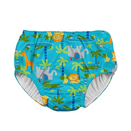 i play. 721150-656-43 Classics ultimative Schwimmwindel mit Druckknöpfen 6-12 Monate, Jungle, aqua (Aqua Füßlinge Keine)