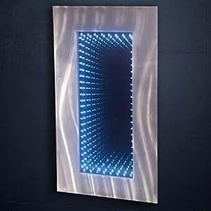 mirrorstyl decm 165 miroir infini led rectangulaire aluminium bross miroir clair effet. Black Bedroom Furniture Sets. Home Design Ideas