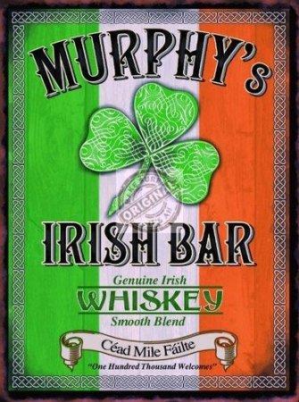 MURPHYS IRISH BAR epoca mini metallo segno 8 'x6'