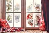 YongFoto 2,2x1,5m Fondos de Navidad Fotografia Santa Claus está Llamando a la Ventana Fondos para Fotos Estudio Fotográfico Accesorios
